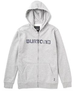 Burton Logo Horizontal Full-Zip Hoodie Heather Gray