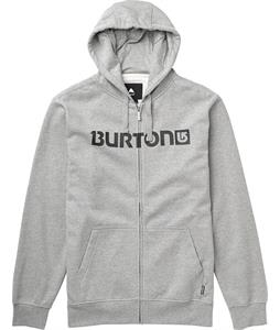 Burton Logo Horizontal Full-Zip Hoodie Heather Grey/Black Logo