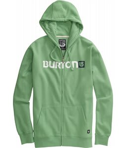 Burton Logo Horizontal Fullzip Hoodie Heather Sweet Leaf
