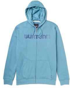 Burton Logo Horizontal Full Zip Hoodie Storm Blue