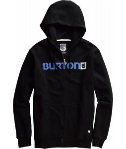 Burton Logo Horizontal Fullzip Hoodie True Black/Blue