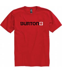 Burton Logo Horizontal T-Shirt Cardinal
