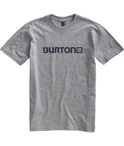 Burton Logo Horizontal T-Shirt Heather Grey