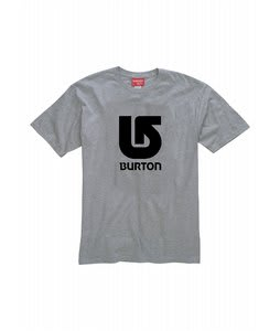 Burton Logo Vertical T-Shirt Athletic Heather