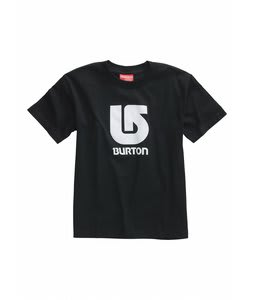 Burton Logo Vertical T-Shirt True Black