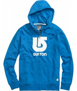Burton Logo Vertical Fullzip Hoodie Heather Bombay