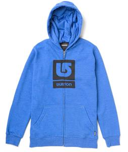Burton Logo Vertical Full-Zip Hoodie Heather Cobalt Blue