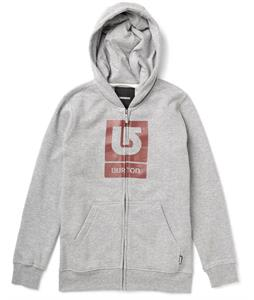 Burton Logo Vertical Full-Zip Hoodie Heather Grey