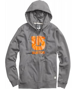 Burton Logo Vertical Fullzip Hoodie Jet Pack