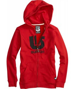 Burton Logo Vertical Fullzip Hoodie Marauder