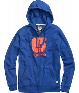 Burton Logo Vertical Fullzip Hoodie Royals