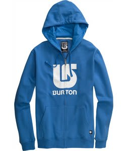 Burton Logo Vertical Fullzip Hoodie Swedish Blue