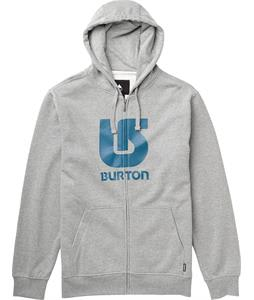 Burton Logo Vertical Full-Zip Hoodie Heather Grey/Blue Logo