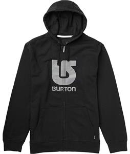 Burton Logo Vertical Full-Zip Hoodie True Black/Grey Logo