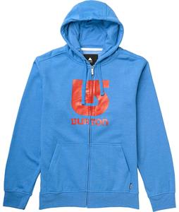 Burton Logo Vertical Full-Zip Hoodie Heather Cove