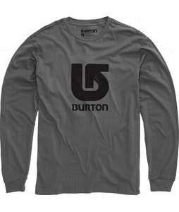 Burton Logo Vertical L/S T-Shirt Charcoal