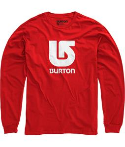 Burton Logo Vertical L/S T-Shirt Red
