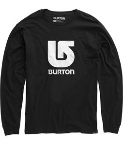 Burton Logo Vertical L/S T-Shirt True Black