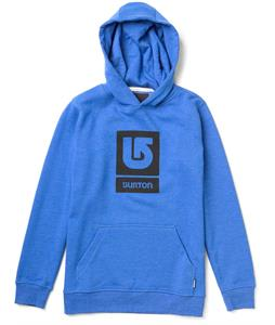 Burton Logo Vertical Pullover Hoodie Heather Cobalt Blue