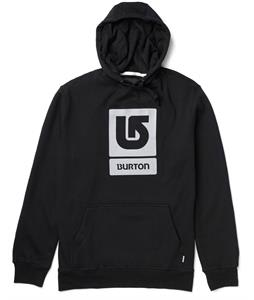 Burton Logo Vertical Pullover Hoodie True Black