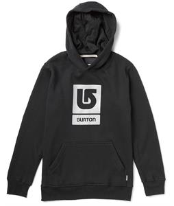 Burton Logo Vertical Pullover Hoodie True Black