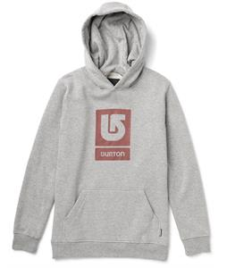 Burton Logo Vertical Pullover Hoodie Heather Gray