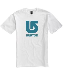 Burton Logo Vertical T-Shirt Bright White/Blue