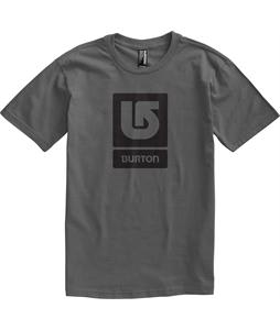 Burton Logo Vertical T-Shirt Charcoal