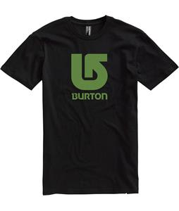 Burton Logo Vertical T-Shirt True Black/Green