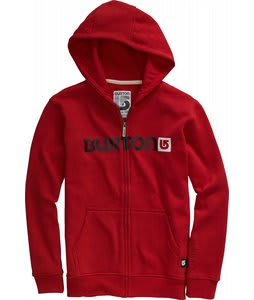 Burton Logo Horizontal Fullzip Hoodie Cardinal