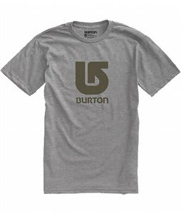 Burton Logo Vertical T-Shirt Heather Grey
