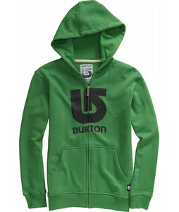 Burton Logo Vertical Fullzip Hoodie Astro Turf