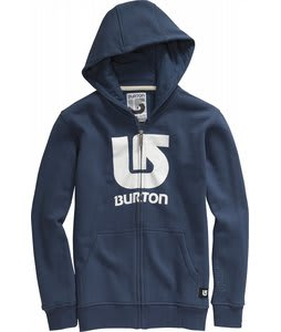 Burton Logo Vertical Fullzip Hoodie Team Blue
