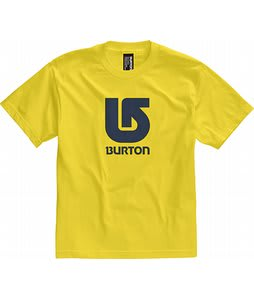 Burton Logo Vertical T-Shirt Gold Medal