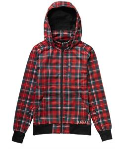 Burton Lottie Softshell Cardinal Tartan Plaid
