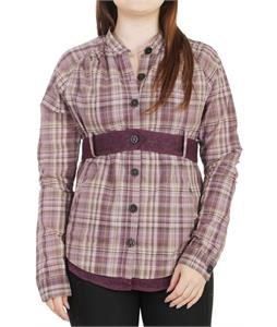 Burton Prof L/S Belted Top Jump Check Eggplant