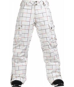 Burton Lucky Snowboard Pants Gridline Brt Wht