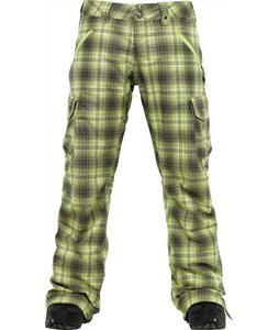 Burton Lucky Snowboard Pants Aloe Fade Out Plaid