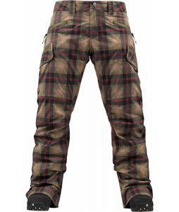 Burton Lucky Snowboard Pants Olive Radiant Plaid