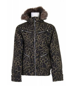 Burton Lush Snowboard Jacket Capers Safari