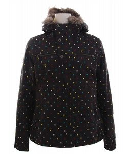 Burton Lush Snowboard Jacket Black Polka Squares
