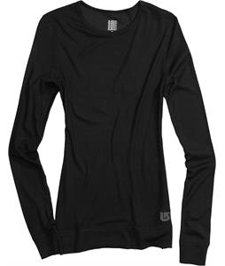 Burton Luxury Midweight Crew Baselayer Top True Black