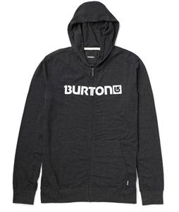 Burton Maxwell Full Zip Hoodie Heather True Black