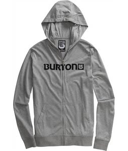 Burton Maxwell Jersey Fullzip Hoodie Heather Grey