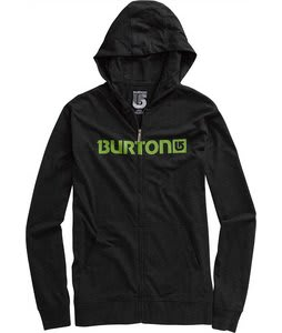 Burton Maxwell Jersey Fullzip Hoodie Heather True Black