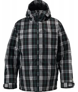 Burton Meristem Down Snowboard Jacket Gmp True Black Tartan Plaid