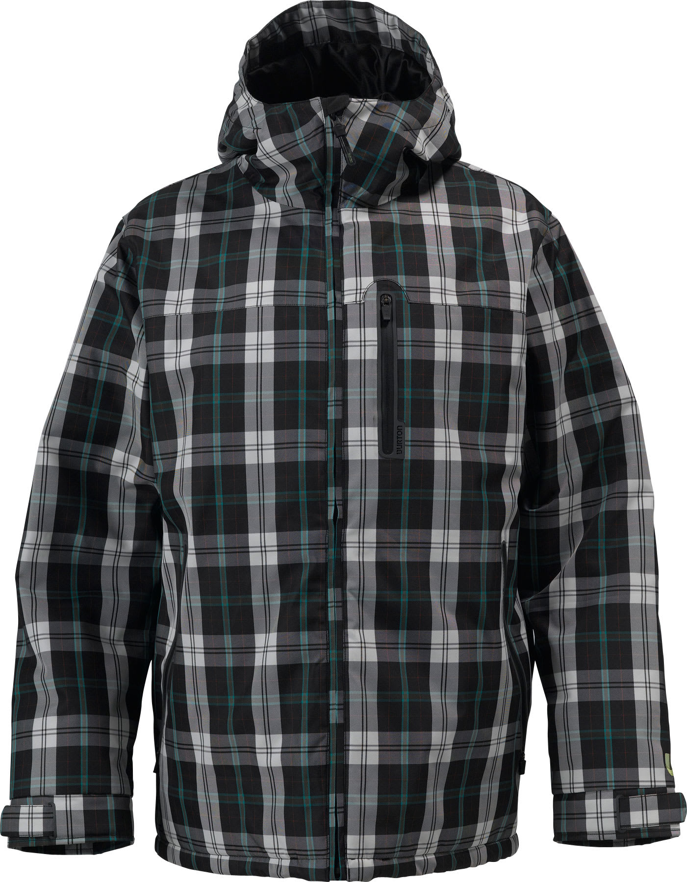 Shop for Burton Meristem Down Snowboard Jacket Gmp True Black Tartan Plaid - Men's