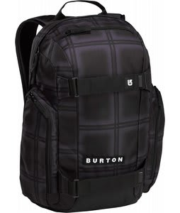 Burton Metalhead Backpack Black Ghost Plaid