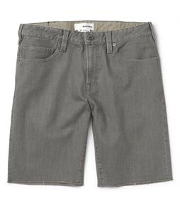 Burton Mid Fit Denim Shorts Grey