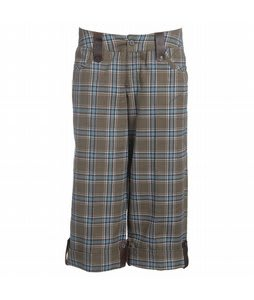 Burton Midterm Capris Olive Plaid